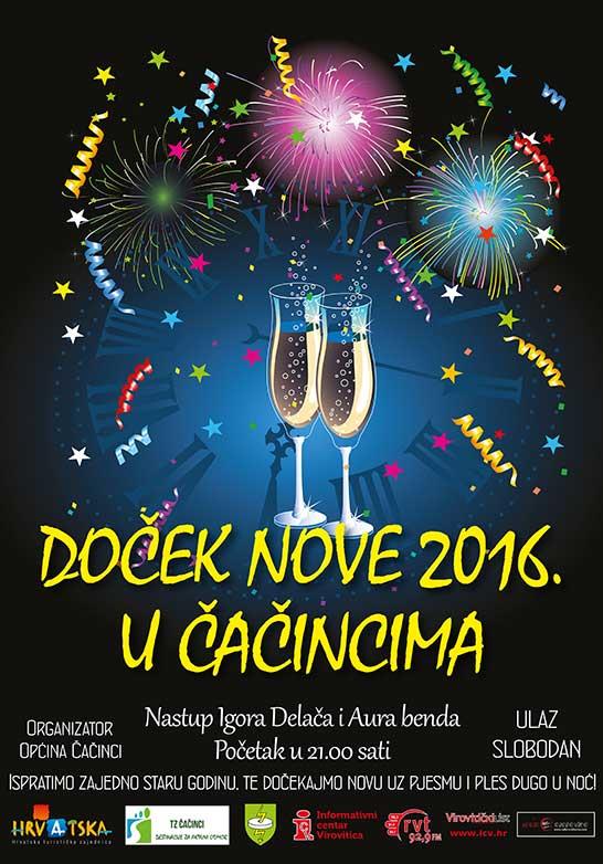 Doček Nove godine u Čačincima uz Igora Delača i Aura bend