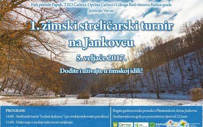 Odgoda 1. Zimskog turnira u streličarstvu na Jankovcu