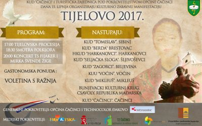 Najava smotre folklora Tijelovo u Čačincima 2017.