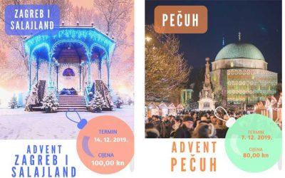 Vodimo vas na Advent u Zagreb, Salajland i na Advent u Pečuh