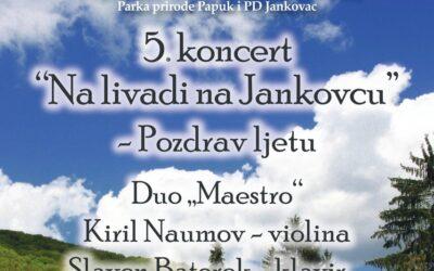 Na livadi na Jankovcu – novi termin