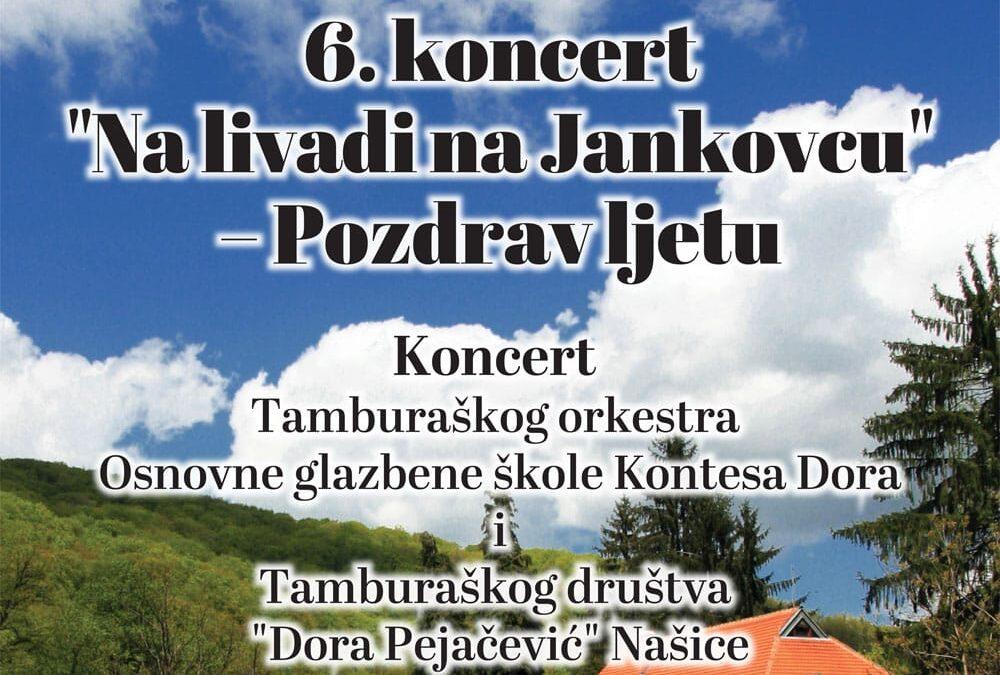 Najava koncerta Na livadi na Jankovcu